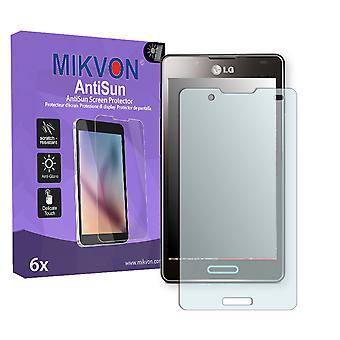 LG P710 Optimus L7 II Screen Protector - Mikvon AntiSun (Retail Package with accessories)