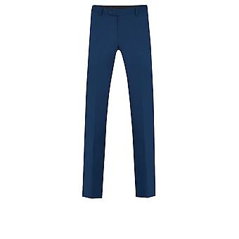 Dobell Boys Bright Blue Suit Trousers Regular Fit