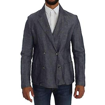 Double Breasted Master jas blauw Fit Regular Blazer--SIG3326277