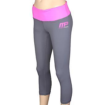 Mallas de compresión de 3/4 de MusclePharm mujeres - gris/rosa