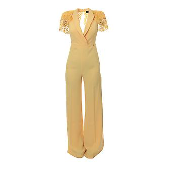 Elisabetta Franchi Yellow Viscose Jumpsuit