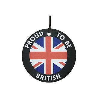 英国の自動車用芳香剤のことを誇りに