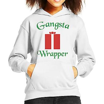 Christmas Gangsta Wrapper Present Kid's Hooded Sweatshirt
