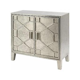Libra Furniture Hand Hammered Two Door Metal Cabinet