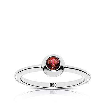 University Of Southern California - Usc Engraved Ruby Ring