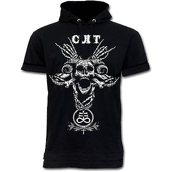Wild star - pentagram cult - mens hoodie t-shirt - black - occult fashion
