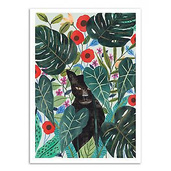 Konstaffisch-svart jaguar-Ploypisut 50 x 70 cm