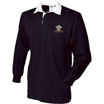 10th Royal Hussars - Licensed British Army Embroidered Long Sleeve Rugby Shirt