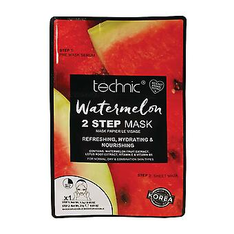 Technic 2 Step Sheet Face Mask ~ Watermelon