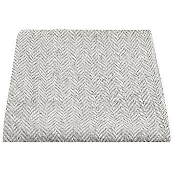 Silver Grey & Cream Herringbone Pocket Square, Handkerchief