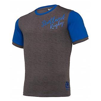 2019-2020 Scotland Macron Rugby Leisure Polycotton T-Shirt (Grey)