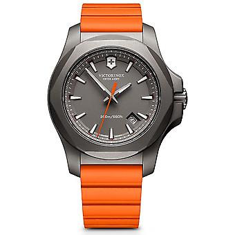 Victorinox Stainless Stainless Watch for Analog Man Quartz With Rubber Bracelet V241758