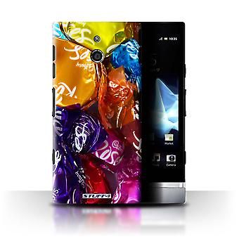 STUFF4 Case/Cover voor Sony Xperia P/LT22i/rozen/snoep & Candy