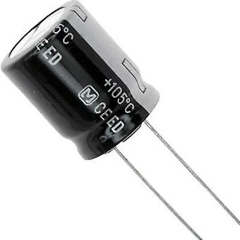 Electrolytic capacitor Radial lead 7.5 mm 100 µF