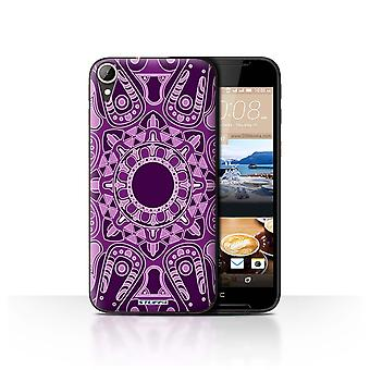 STUFF4 Case/Cover for HTC Desire 830/Octagon/Purple/Mandala Art