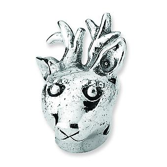 Sterling Silver Reflections Reindeer Bead Charm