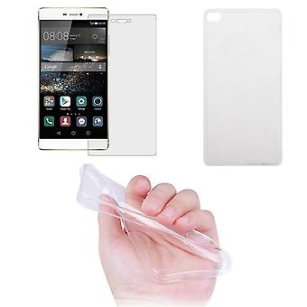 Huawei P8 Handyhülle protective pouch ultrathin only 0.3mm Case Cover Protective Case shell + armored glass real glass display protection
