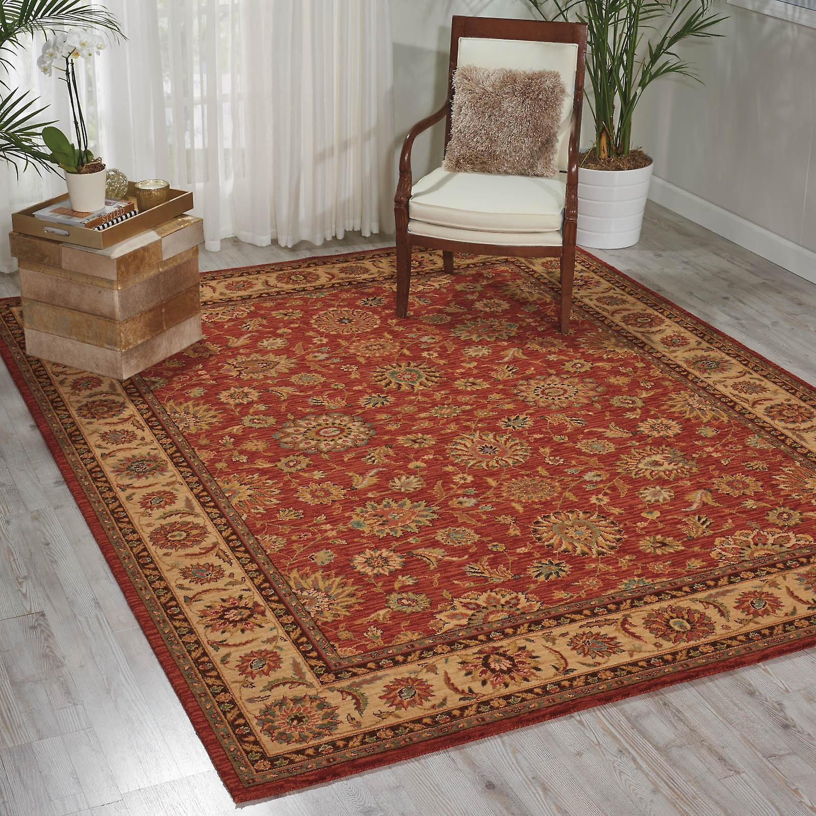 Living Treasure Rugs By Nourison Li05 In Rust