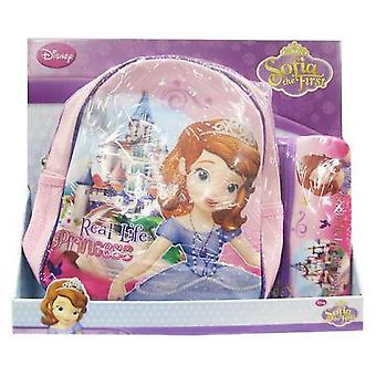 Import Pack Backpack + Portatodo Plano Princesa Sofia