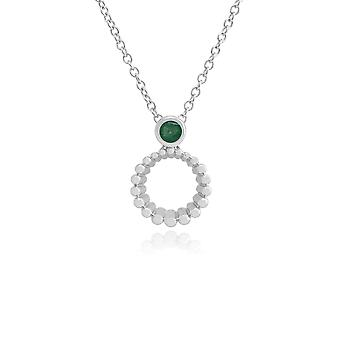 Gemondo Sterling Silver Emerald 45cm Necklace & Ring Set