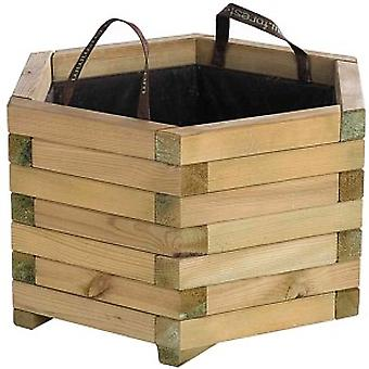 Forest Style Baroque Planter With Handles And Geotextile Hexagonal