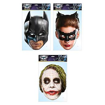 Batman Official DC Comics 2D Card Party Face Masks Variety 3 Pack