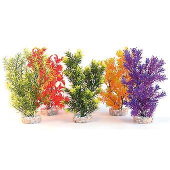 Sydeco kolorowe rośliny dżungli średnio 28cm (opakowanie 6)