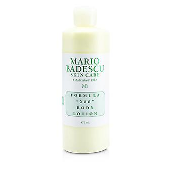Mario Badescu Formula 200 Body Lotion - For All Skin Types 472ml/16oz