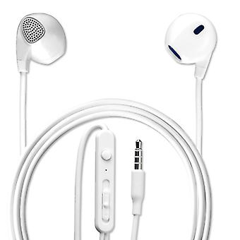 In-ear stereo headset melody 3.5 mm audio cable 1.2 m headphone white
