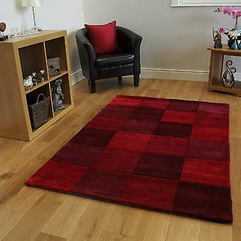 Red Squared Contempoary Rug Banbury