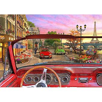 Paris in a Car Poster Print by Dominic Davidson