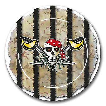 Pirate Party kids party plates 8 piece children's birthday
