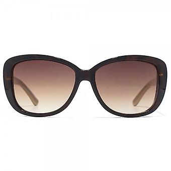 Carvela Small Glamour Sunglasses In Brown On Crystal Pink