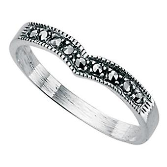 Marcasite argento 925 anello originale
