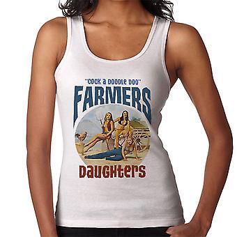 Sexy Bauern Töchter Hahn ein Doodle Doo Damen Weste