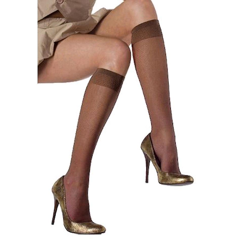 Solidea Miss Relax Micro Rete 70 Sheer Support Socks [Style 41770] Bronze (Brown)  S