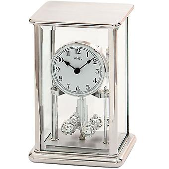 AMS annual watch quartz mineral glass with polished metal housing Rotary pendulum clock