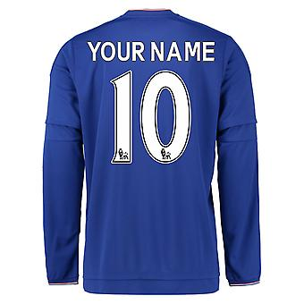 2015-2016 Chelsea Home Long Sleeve Shirt (Your Name)