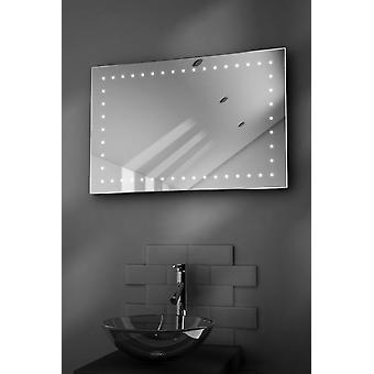 Cyan Ultra-Slim LED Bathroom Mirror With Demister Pad & Sensor k170
