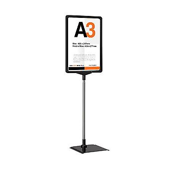 A3 Poster Display Stand, altezza regolabile
