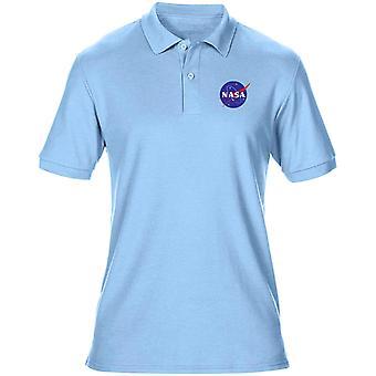 NASA Space Exploration broderad logo - Mens Polo Shirt