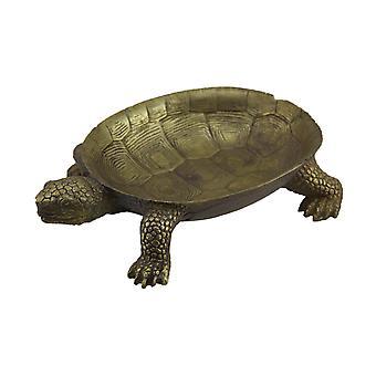 Bladguld Finish skildpadde dekorative Centerpiece skål