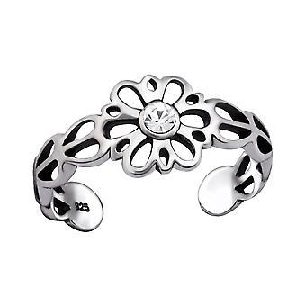 Flower - 925 Sterling Silver Toe Rings - W29413X