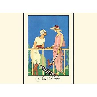 Au Polo Poster Print by Georges Barbier (13 x 10)