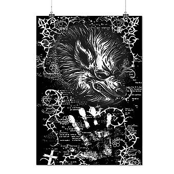 Matte or Glossy Poster with Beast Devil Wolf Horror | Wellcoda | *d1250
