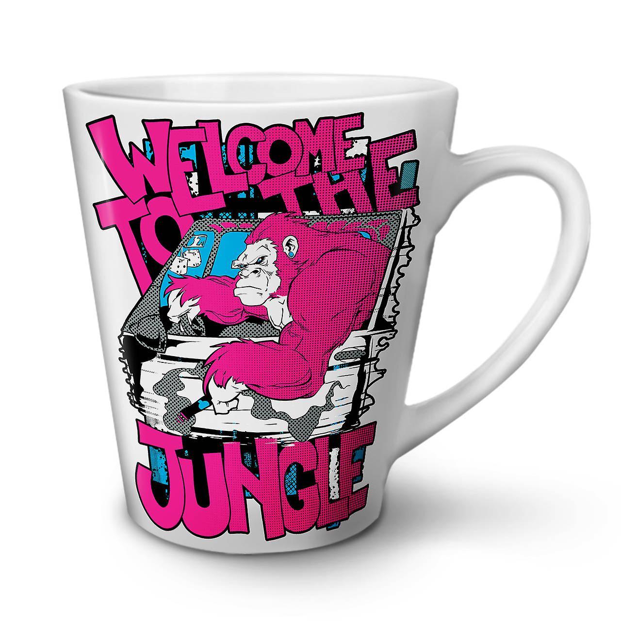 Latte Dans 12 Jungle En Bienvenue Céramique Café OzWellcoda Nouvelle La Tasse Blanche Animale 6vYfgby7