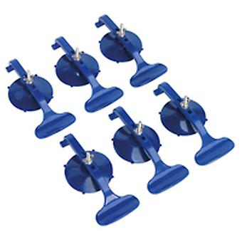 Sealey RE006 Suction Cup Clamp Set Trim Dents Panels Puller Glass Adjustable 6Pc
