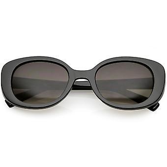 Dikke dikke retro ovale zonnebrillen neutraal gekleurde ronde Lens 52mm