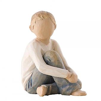 Willow Tree Caring Child Hand Painted Figurine