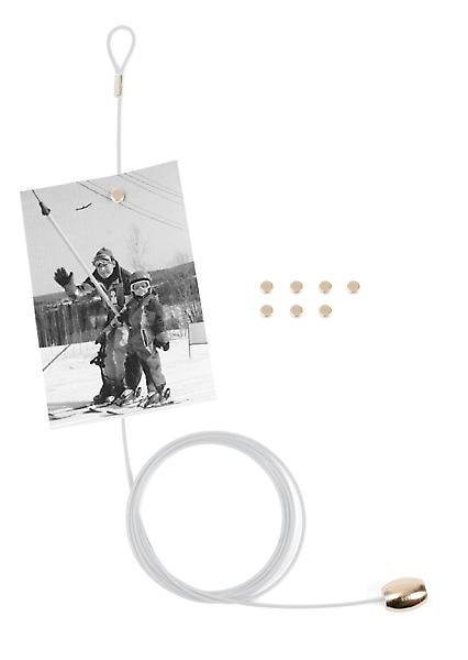 White Magnetic Cable Photo or Card Holder (8 magnets)